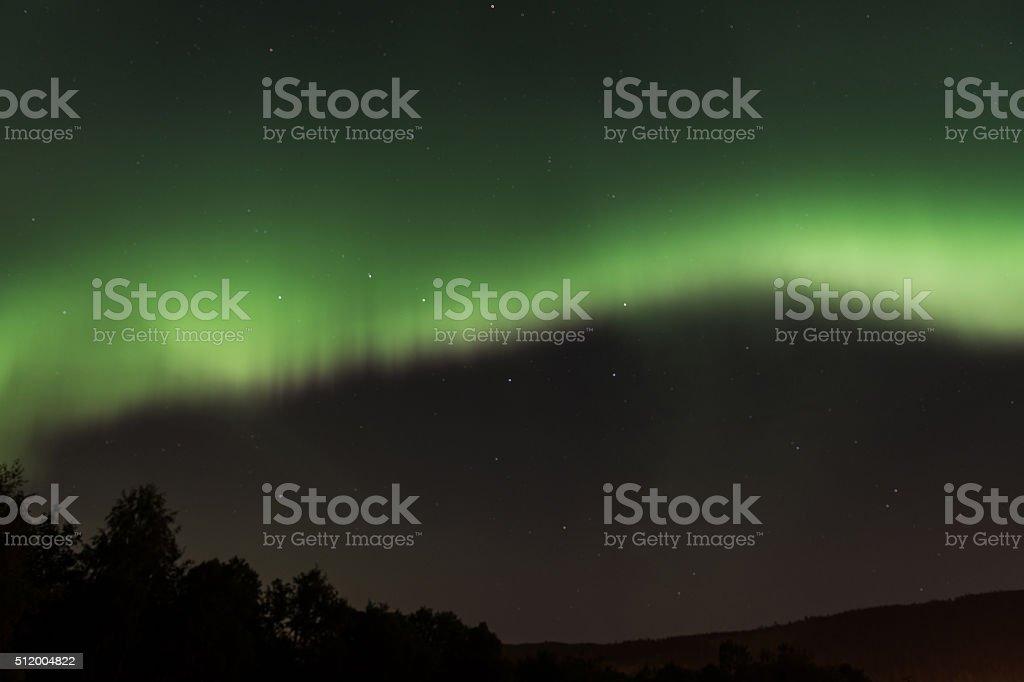 Aurora over Volda stock photo