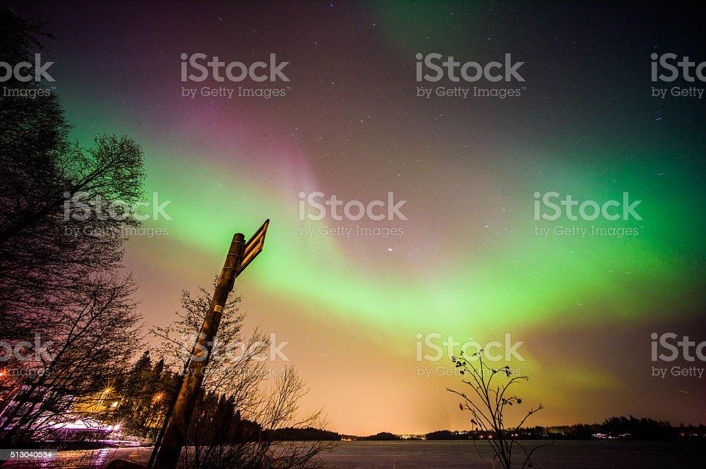Aurora stock photo