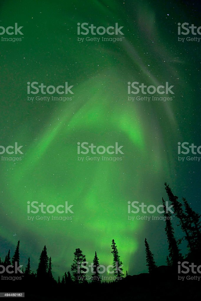 Aurora Polaris, Alaska stock photo
