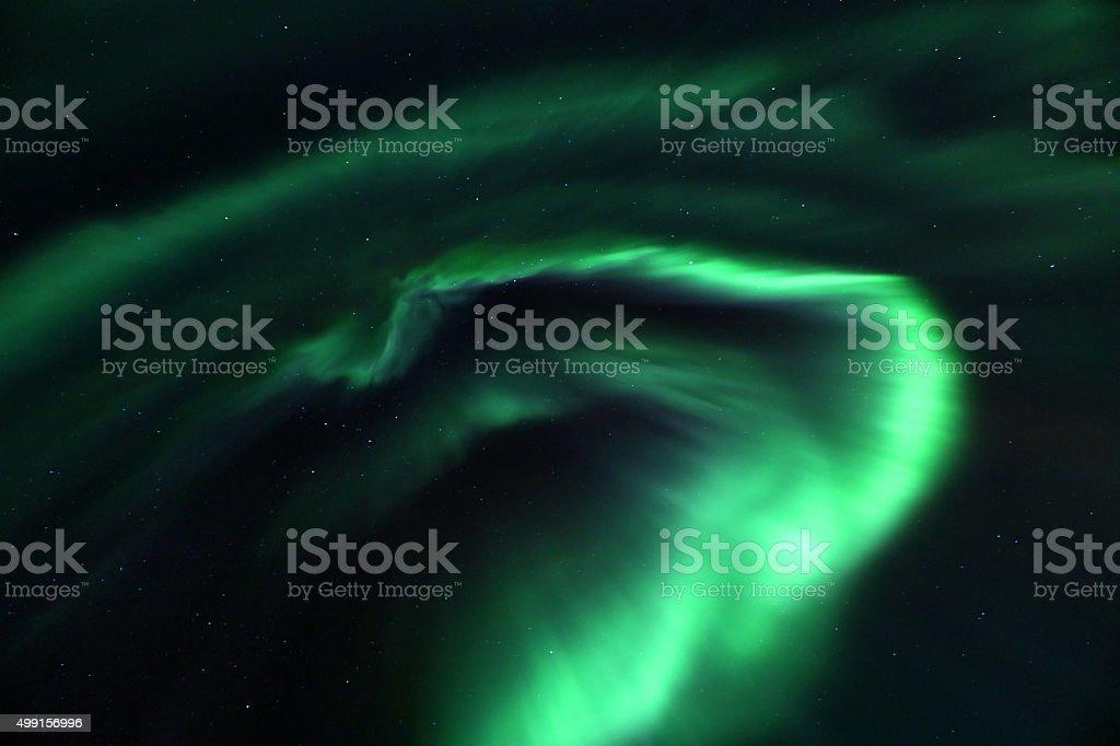 Aurora Storm Display in Iceland stock photo