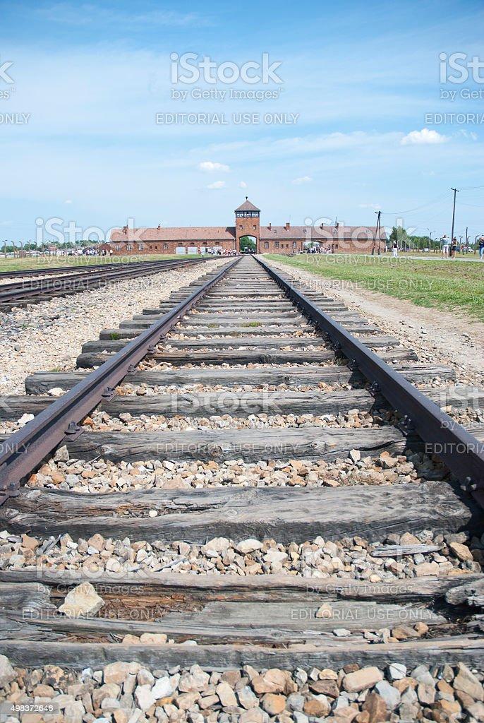 Auschwitz Birkenau camp stock photo