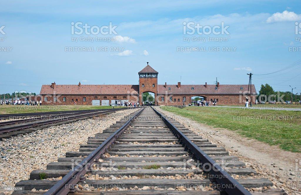 Auschwitz Birkenau Nazi Camp stock photo