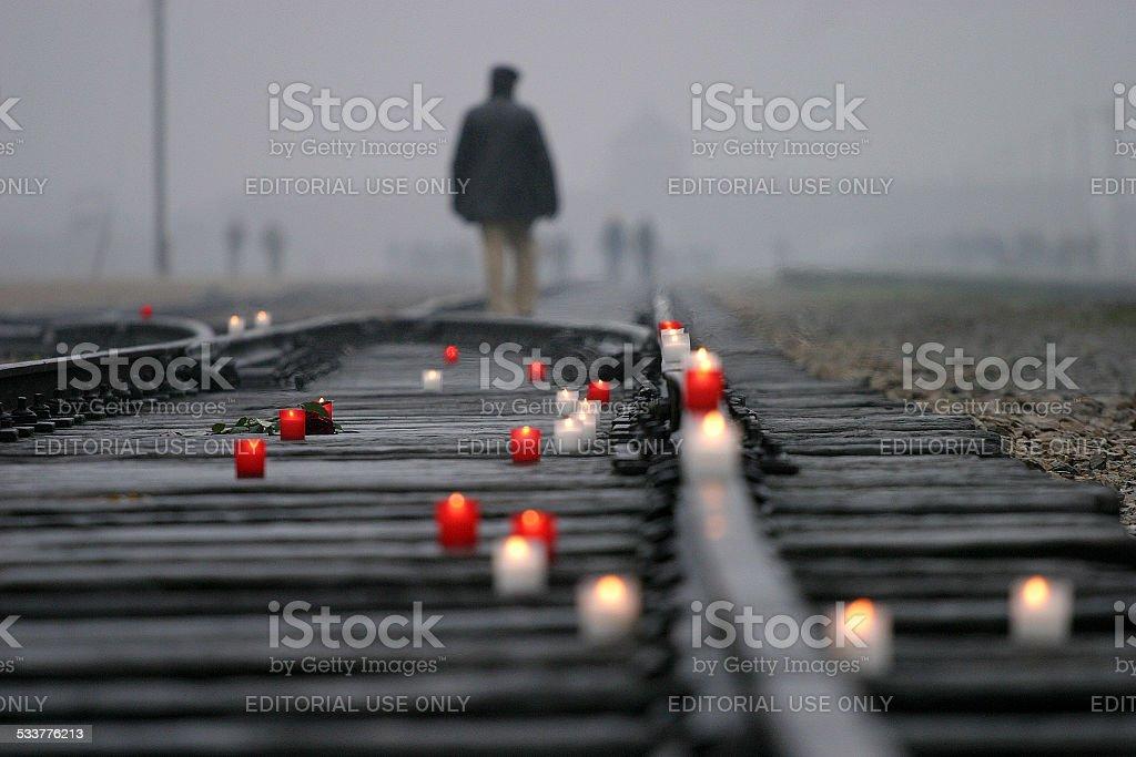 Auschwitz Birkenau The Nazi German Concentration Camp stock photo