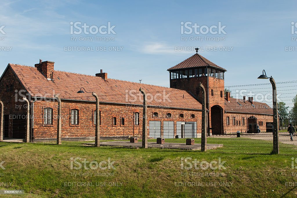 Auschwitz camp stock photo