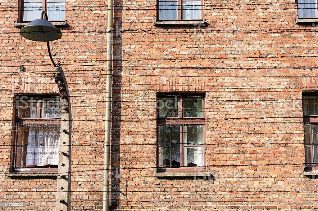 Auschwitz I - Birkenau administration buildings stock photo