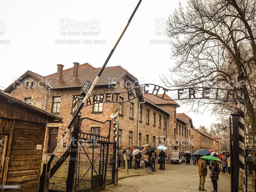 Auschwitz I stock photo