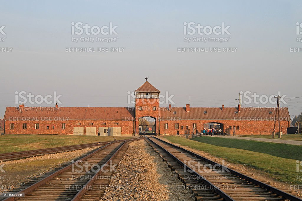 Auschwitz II Birkenau a former Nazi extermination camp stock photo