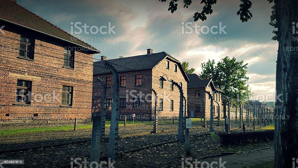 Auschwitz II Birkenau, the biggest nazi concentration camp stock photo