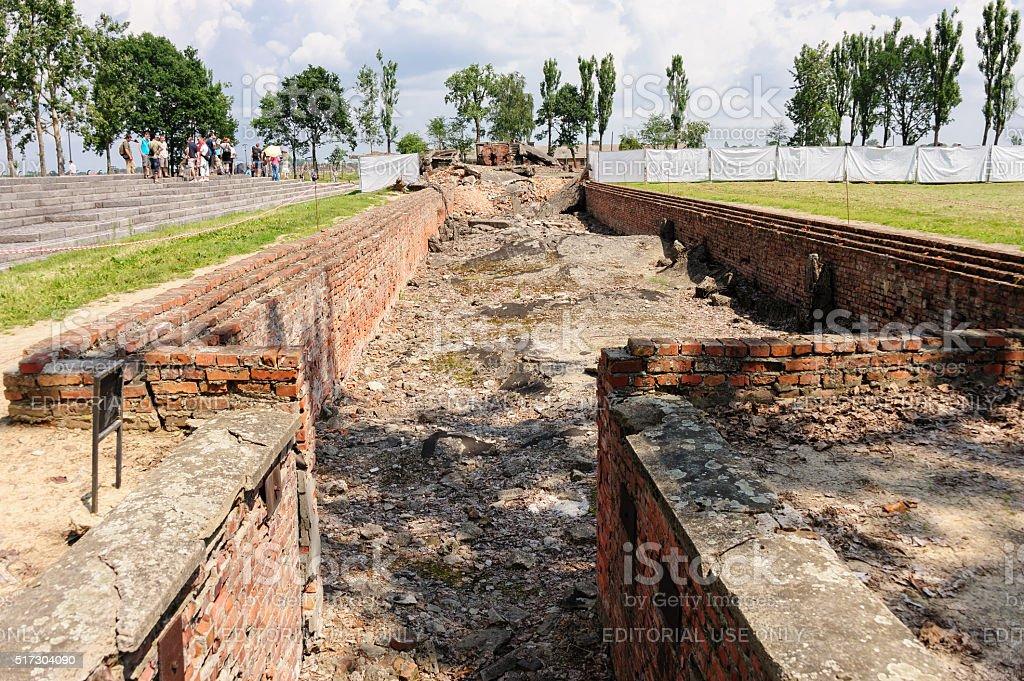 Auschwitz II - Birkenau underground disrobing chamber stock photo