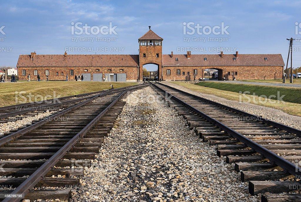Auschwitz Museum stock photo