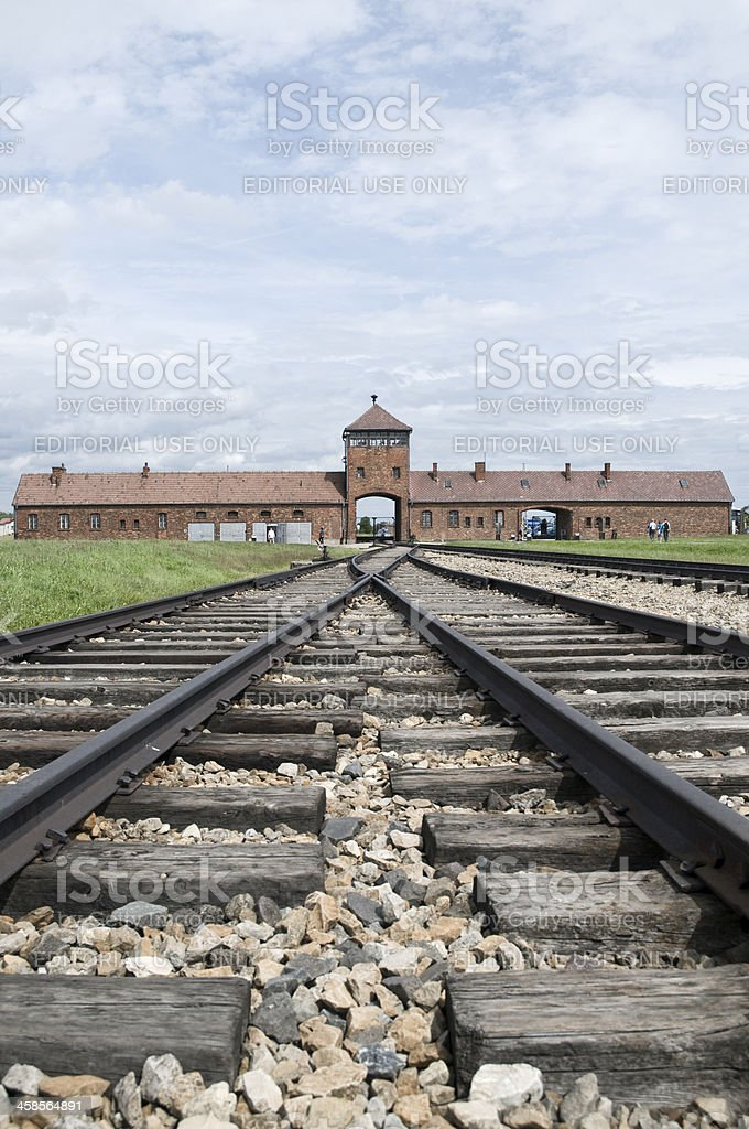 Auschwitz-Birkenau Concentration Camp stock photo