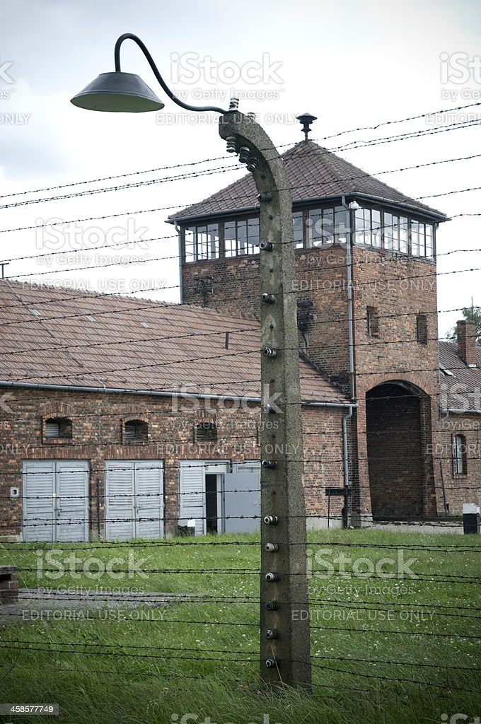 Auschwitz-Birkenau Concentration Camp royalty-free stock photo