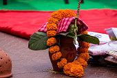 Auspiciousness symbol in Hinduism.