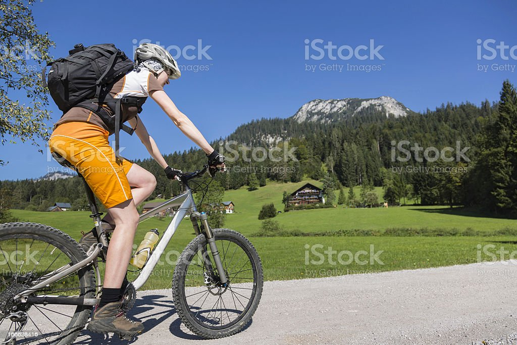 Ausseerland cycling holidays, Austria royalty-free stock photo