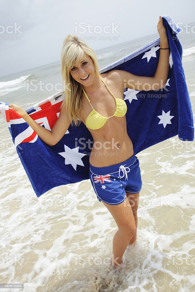 Aussie Beach Girl royalty-free stock photo