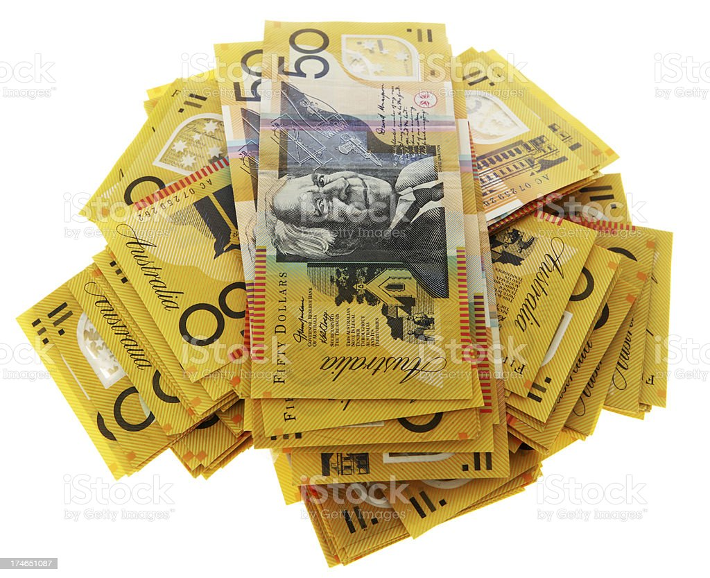 Aussie Cash in 50s royalty-free stock photo