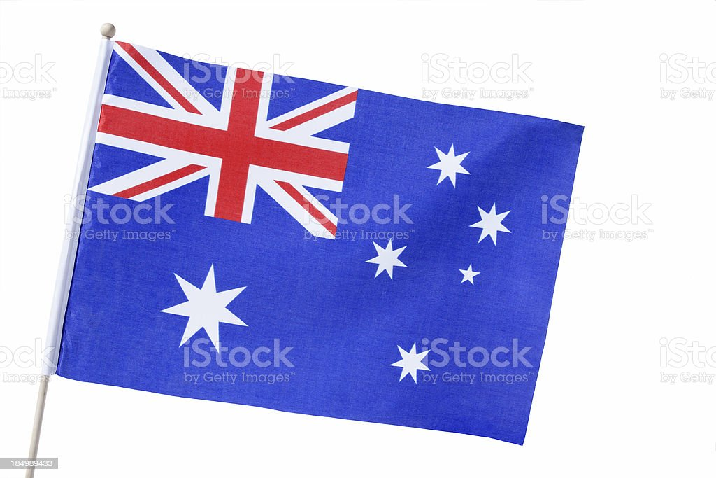 Aussie Flag isolated royalty-free stock photo