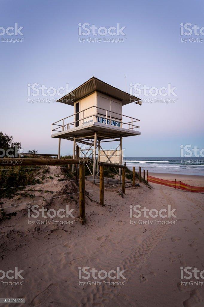 Aussie Lifeguard Tower stock photo