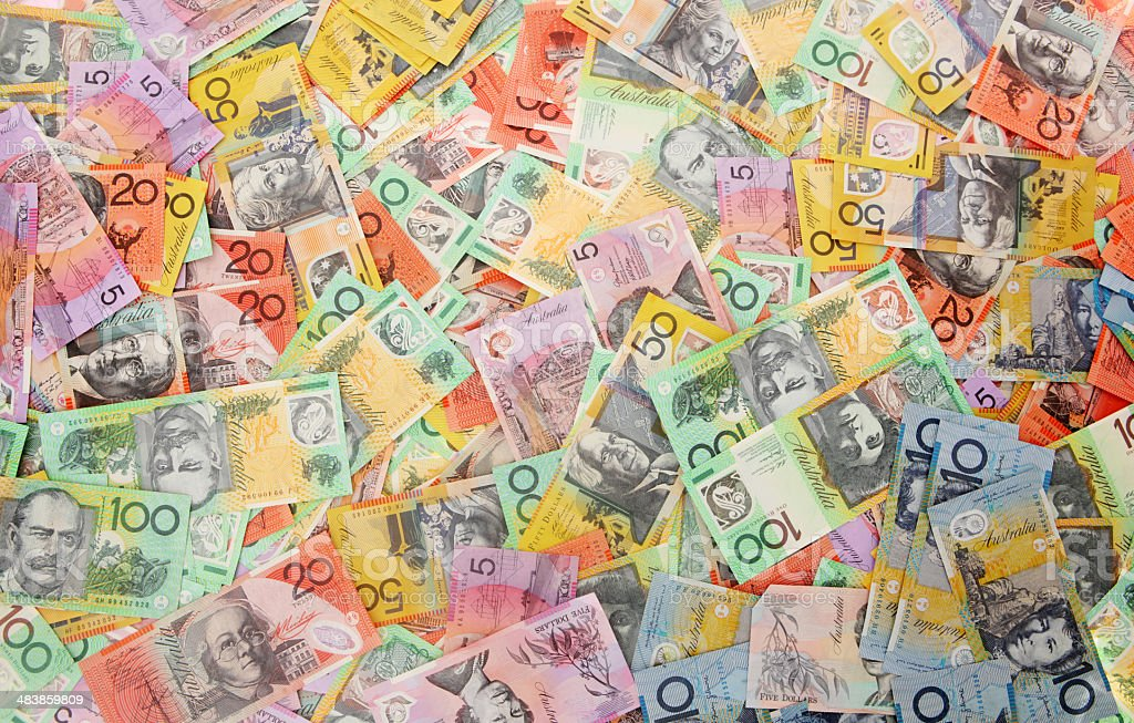 Aussie Money Background stock photo