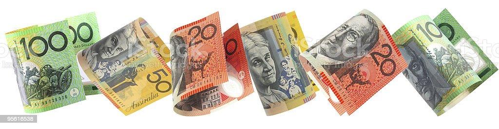 Aussie Money Border stock photo