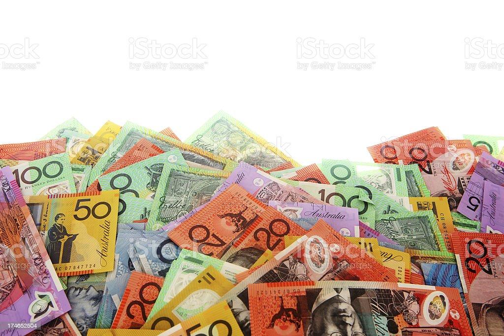 Aussie Money Edge royalty-free stock photo