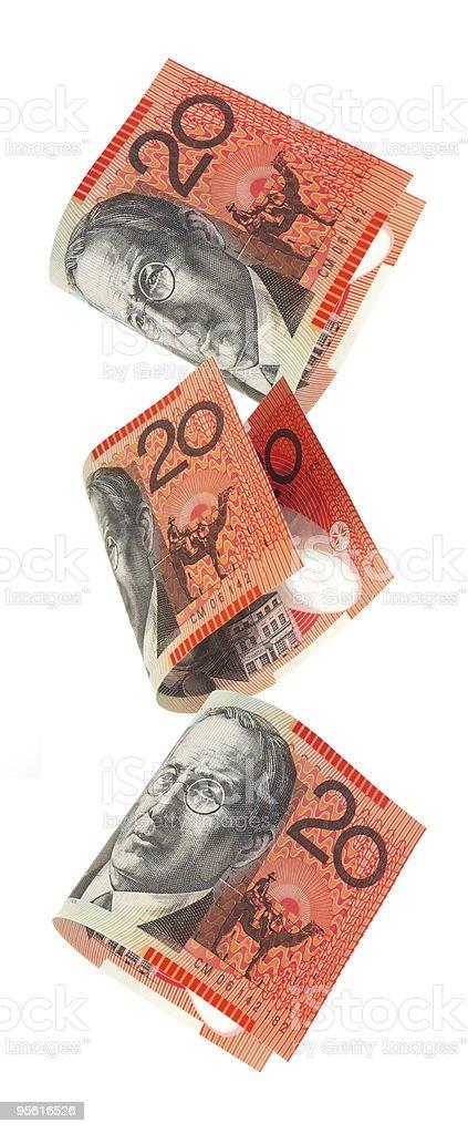 Aussie Money Falling stock photo