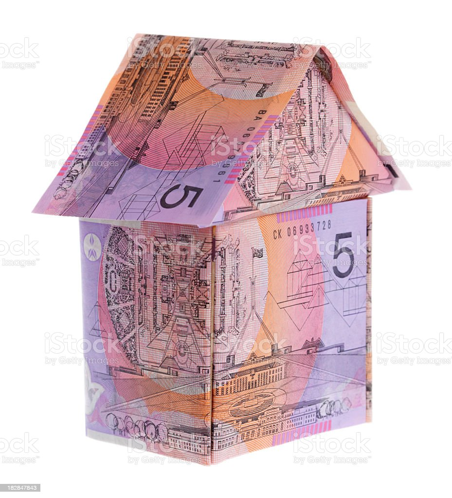 Aussie mortgage home. royalty-free stock photo