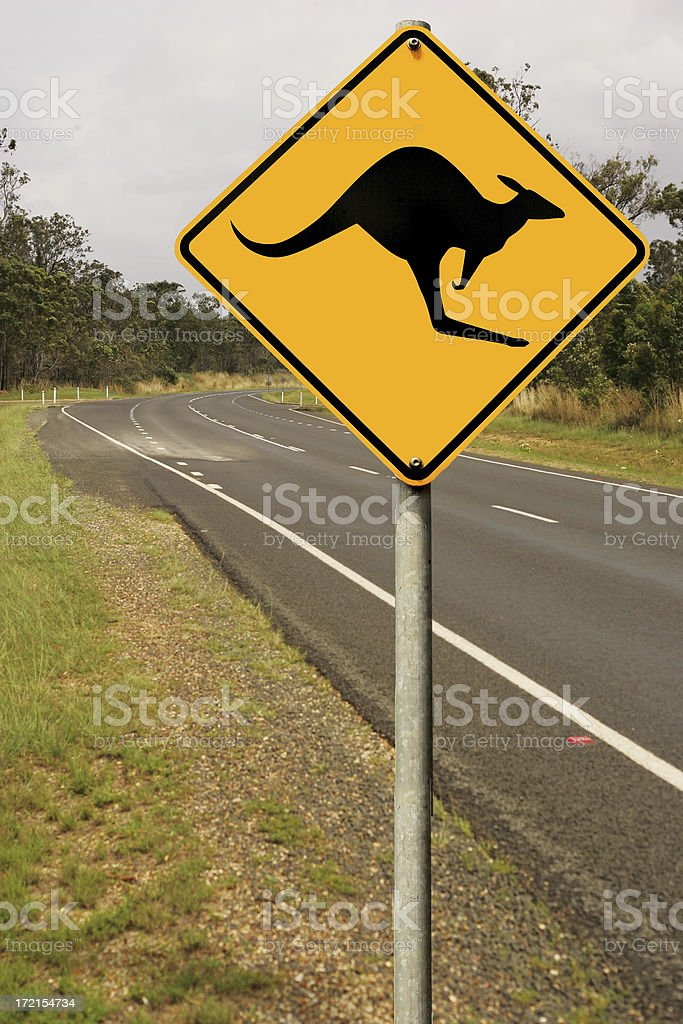 Aussie Road Rules stock photo