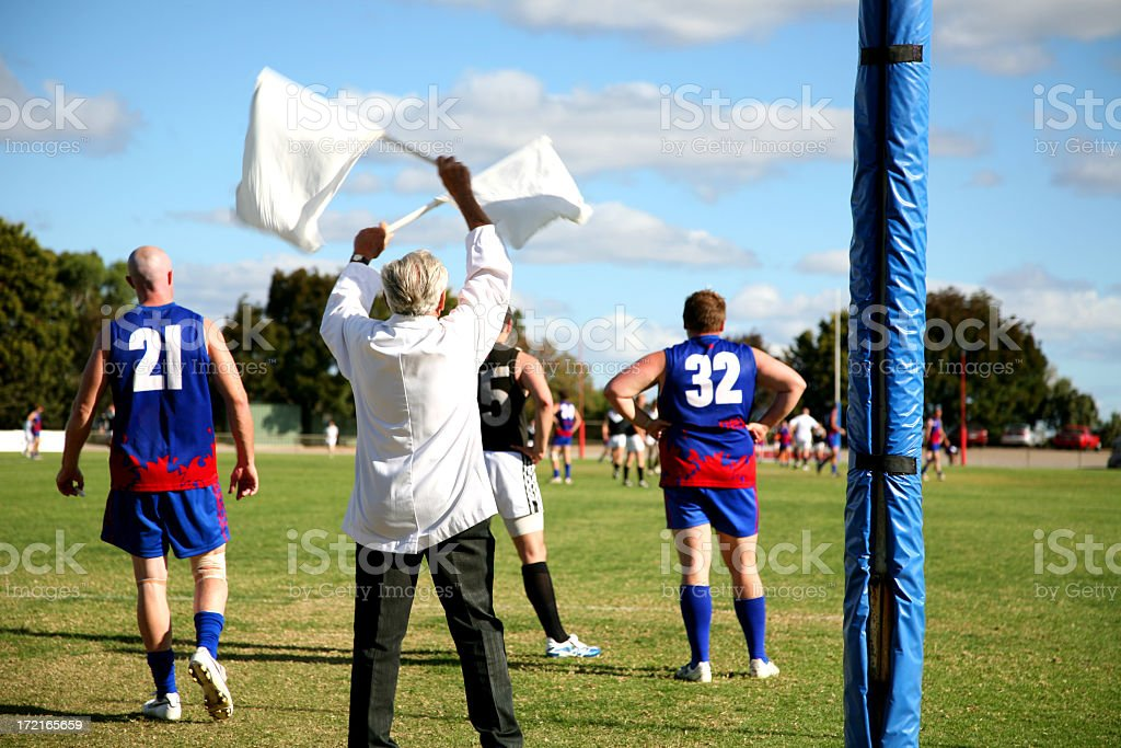 Aussie rules stock photo