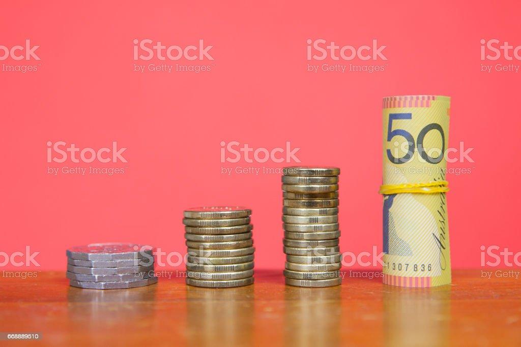 Aussie Savings stock photo