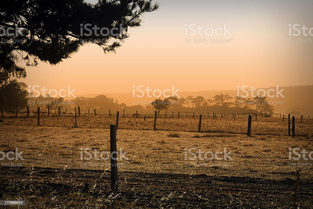 Aussie Scenic Countryside stock photo
