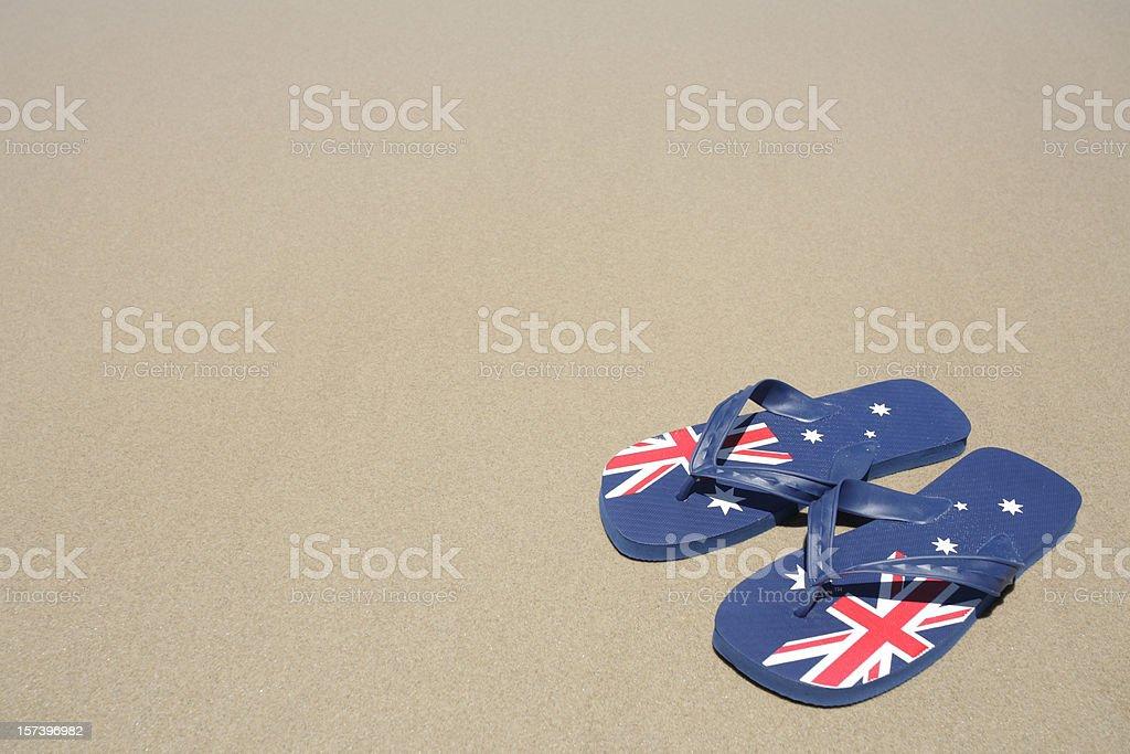 Aussie Thongs royalty-free stock photo