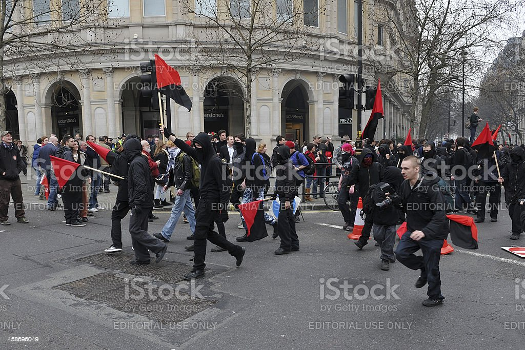 Austerity Rally in London stock photo