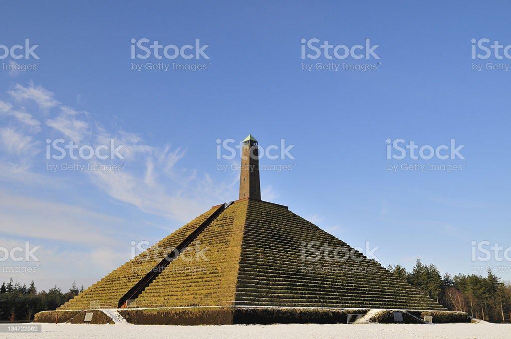 Austerlitz Pyramid stock photo