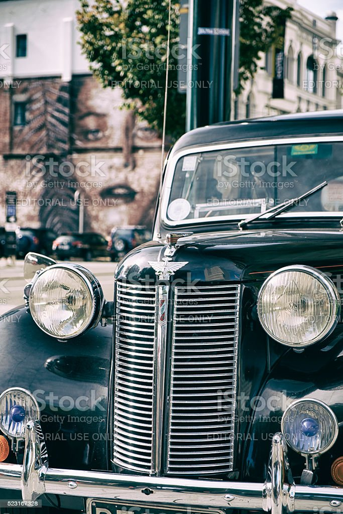 Austin 10 In Christchurch, New Zealand stock photo