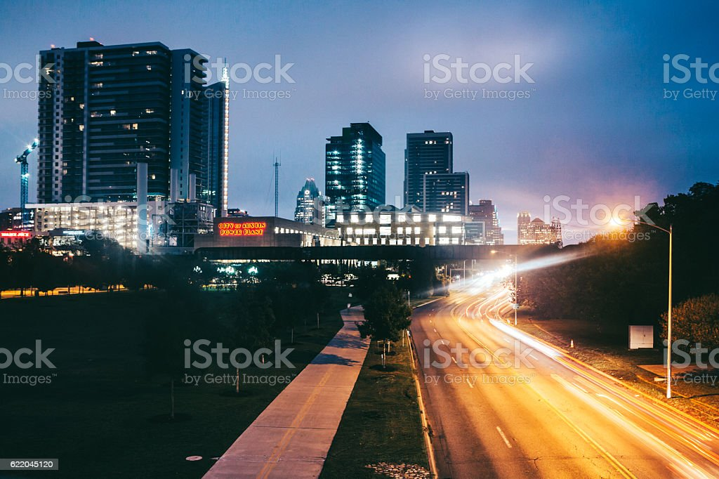 Austin Cityscape and Freeway stock photo