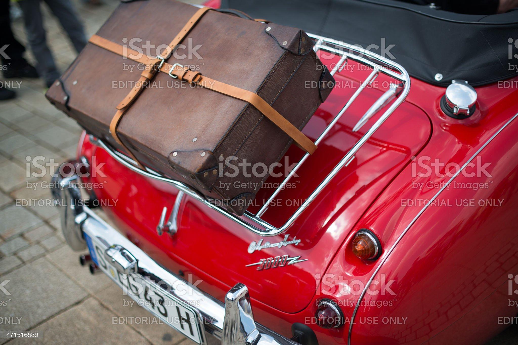 Austin Healey 3000 - classic car detail royalty-free stock photo