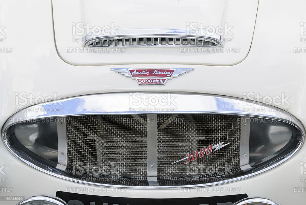 Austin Healey 3000 Grille stock photo