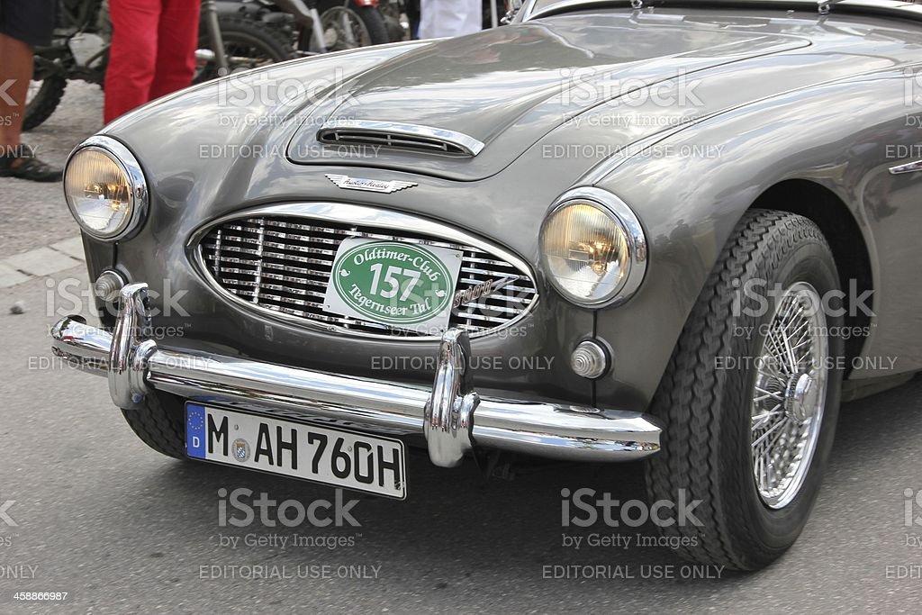 Austin Healey sports car stock photo