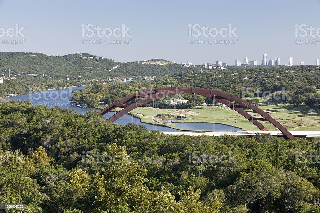 Austin Over the Loop 360 Bridge - Fall 2010 stock photo
