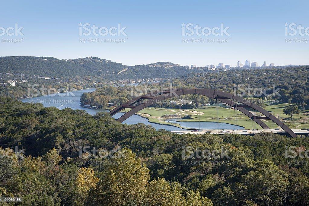 Austin Over the Loop 360 Bridge stock photo