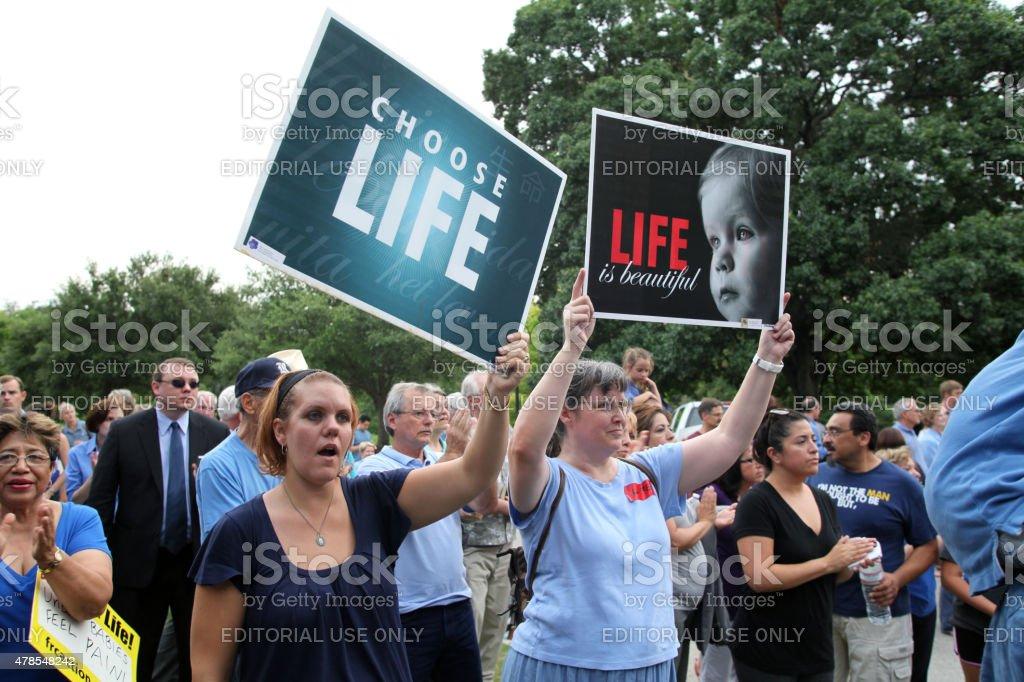 Austin, Texas Abortion Debate, July, 2013 stock photo