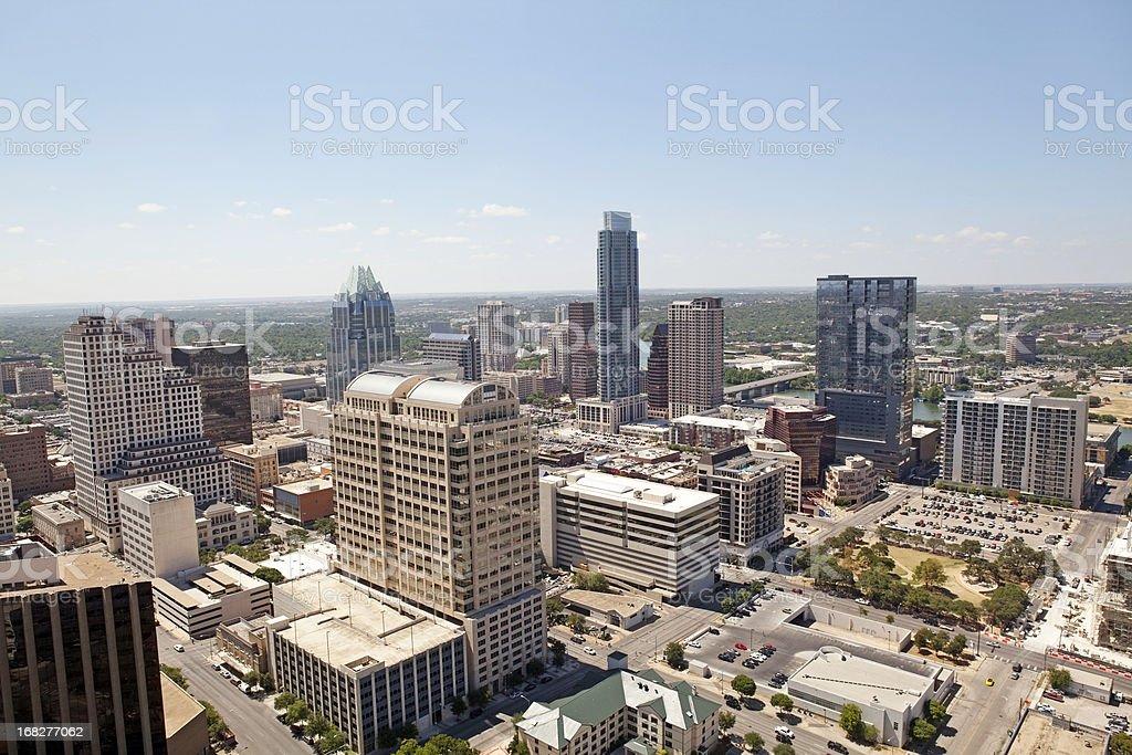 Austin Texas aerial cityscape royalty-free stock photo