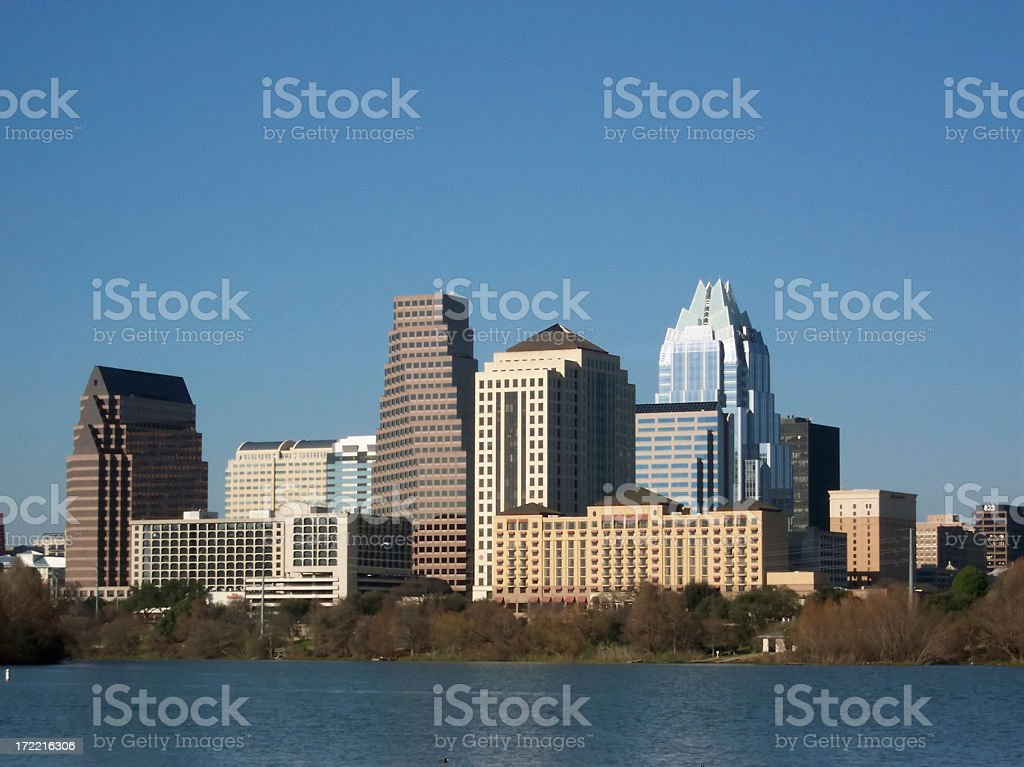 Austin Texas City Skyline Late Afternoon stock photo