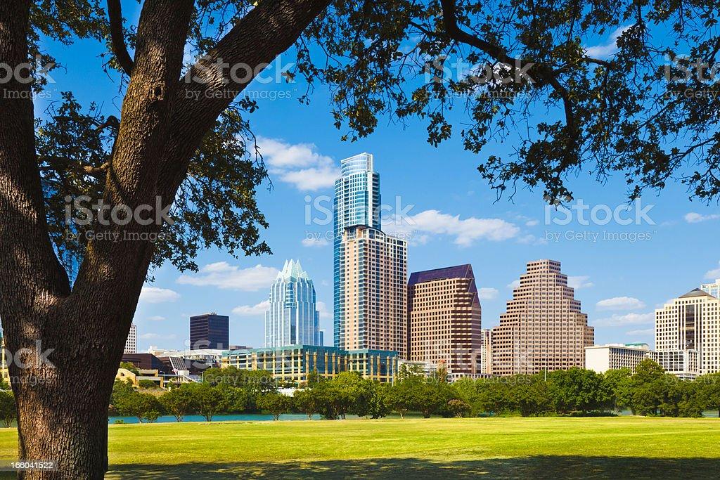 Austin Texas cityscape skyline stock photo