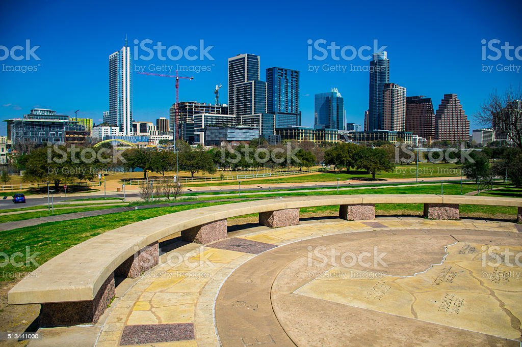 Austin Texas Skyline 2016 stock photo