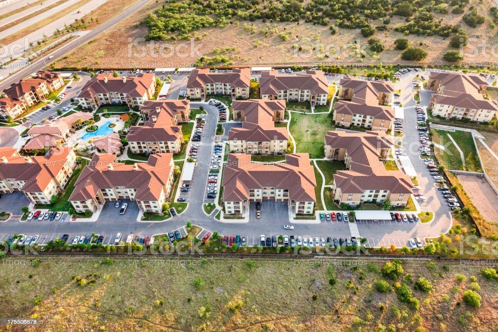 Austin Texas suburban townhouse apartment complex royalty-free stock photo