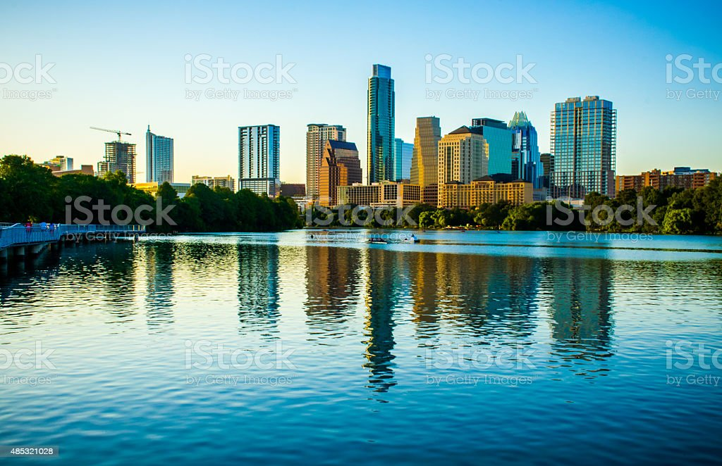Austin Texas Summer 2015 Skyline Water Front Property stock photo