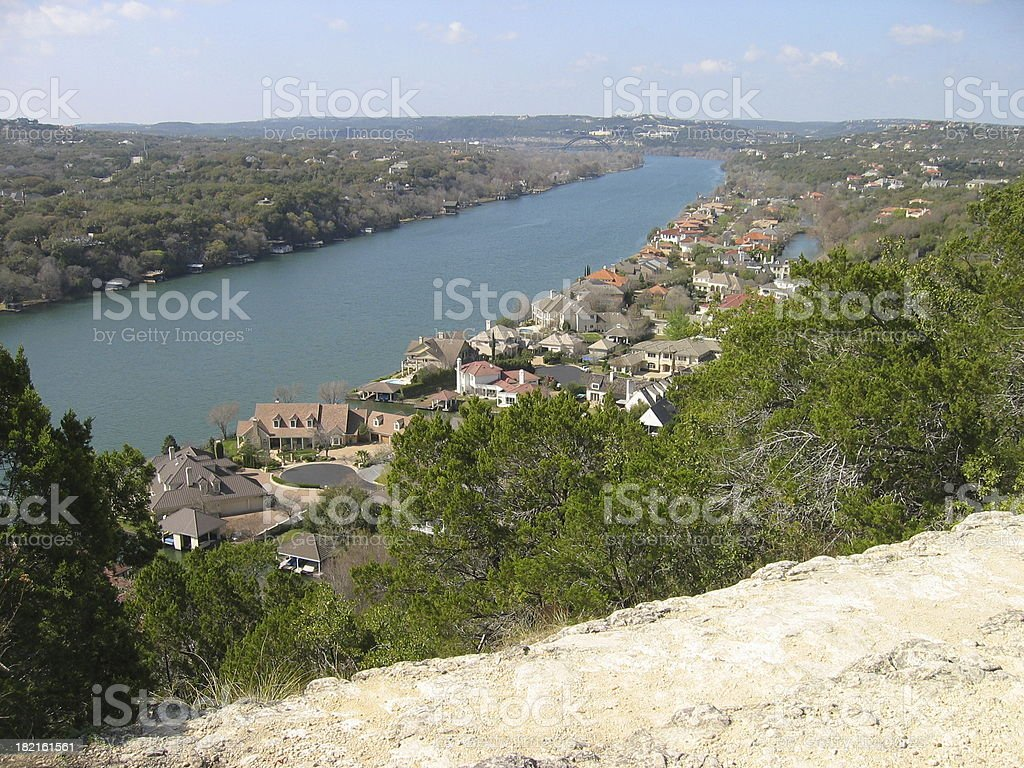 Austin View from Mt. Bonnell stock photo