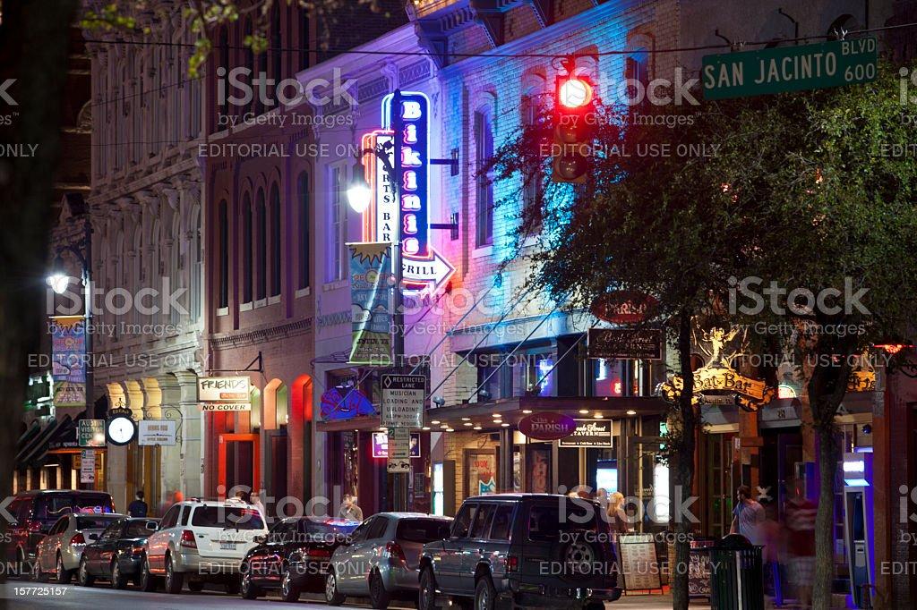 Austin's 6th Street stock photo